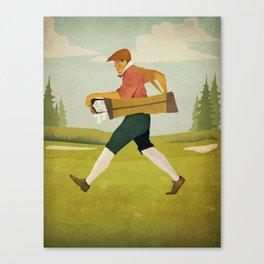 Golfer Vintage Golf Canvas Print