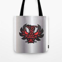 Heiltsuk Thunderbird Black & Red on Silver          Tote Bag