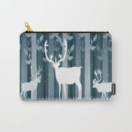 Snow Caribou Carry-All Pouch