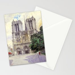 "Cass Gilbert ""Cathedral of Notre Dame, Paris"" (1933) Stationery Cards"