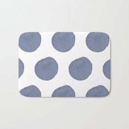 Watercolor chambray dots Bath Mat