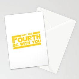 May the fourth be with you Stationery Cards