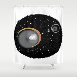 Eclipsed Shower Curtain