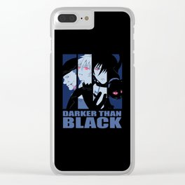 Darker Than Black Huang Hei Yin And Mao Clear iPhone Case