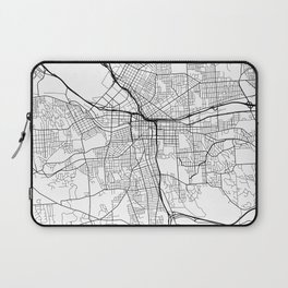 Syracuse Map, USA - Black and White Laptop Sleeve