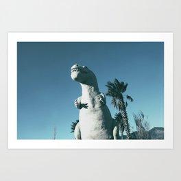 Cabazon Dinosaurs Art Print