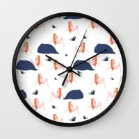 naked Wall Clocks featuring Naked by .eg.