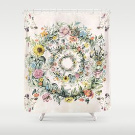 Circle of life- floral Shower Curtain