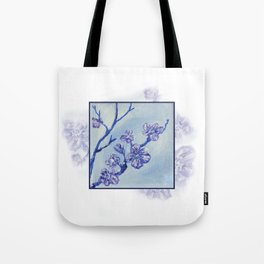 Snow Blossoms Tote Bag