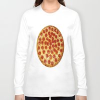 pizza Long Sleeve T-shirts featuring Pizza by I Love Decor