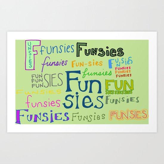 Funsies, 2 Art Print