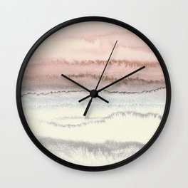 WITHIN THE TIDES - SNOW ON THE BEACH Wall Clock