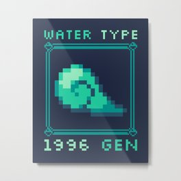 Water Type Metal Print