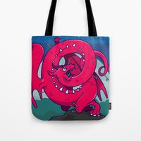 skyrim Tote Bags featuring Last of the Dovah (Skyrim) by Andrea Meli