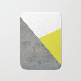 Concrete vs Corn Yellow Bath Mat