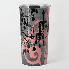 Chandelier & Damask Silhouettes Travel Mug