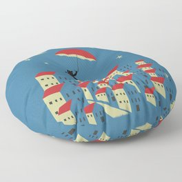 Upton The Cat And His Evening Adventures Floor Pillow