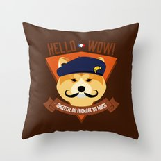 Hello wow, Omelette du Fromage So Much Throw Pillow