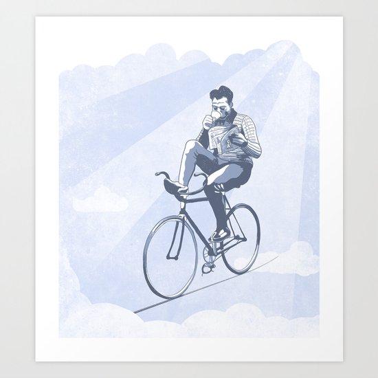 Bike and Coffee (Heaven) Art Print