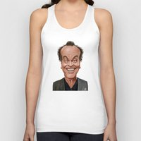 jack nicholson Tank Tops featuring Celebrity Sunday ~ Jack Nicholson by rob art | illustration