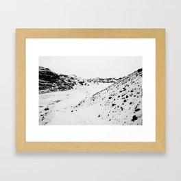 Black White World Framed Art Print