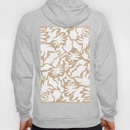 Minimal Shapes Peach Skintone Fall Palm Leaf Pattern Digital Art Print Hoody