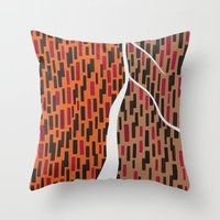 waterfall Throw Pillows featuring Waterfall by Sandyshow