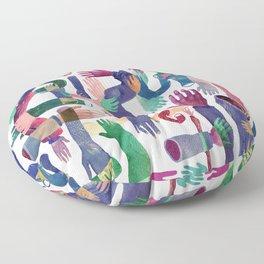 Color Hands Floor Pillow