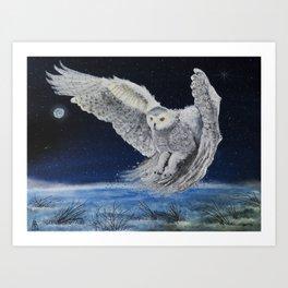Winter Hunt Art Print