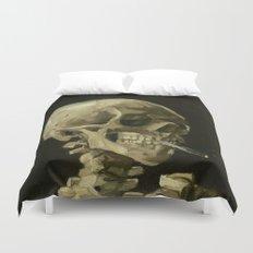 Vincent van Gogh - Skull of a Skeleton with Burning Cigarette Duvet Cover