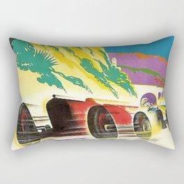 Vintage 1932 Monaco Grand Prix Racing Advertising Poster Rectangular Pillow