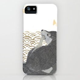 SHIBA INU, DOG, SEIGAIHA, JAPANESE iPhone Case
