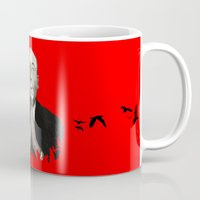 hitchcock Mugs featuring Alfred Hitchcock by Ilustrismo