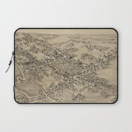 Vintage Pictorial Map of Guilford CT (1881) Laptop Sleeve