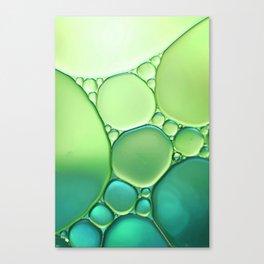 Jade Ombre Bubbles Canvas Print