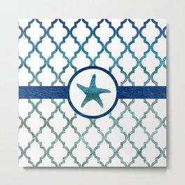 Starfish: Tropical Water Moroccan Pattern Metal Print