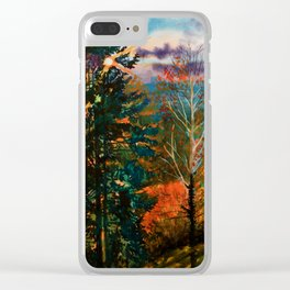 Autumn View Clear iPhone Case