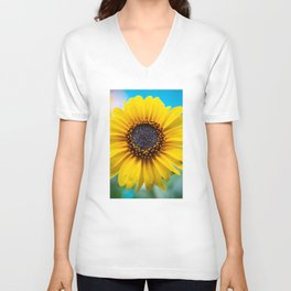 Sunflower Burst Unisex V-Neck
