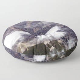 Peaks and Clouds Alps Mountains Floor Pillow