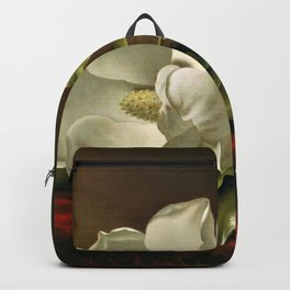 """Magnolia Grandiflora,"" 1885 by Martin Johnson Heade Backpack"