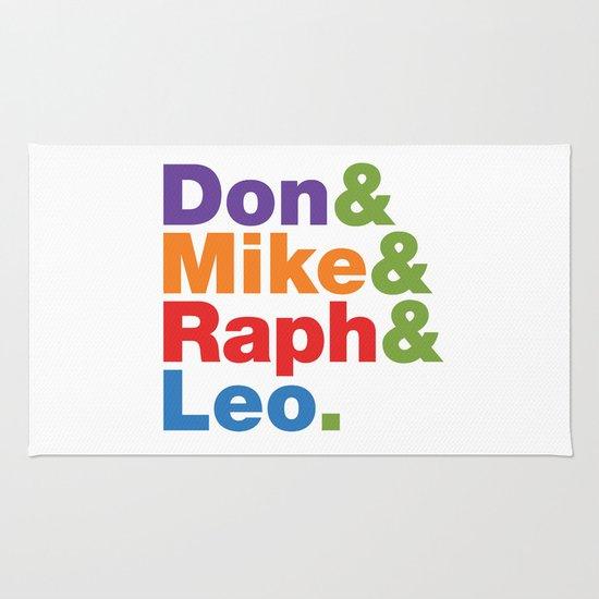 Don & Mike & Raph & Leo. Rug