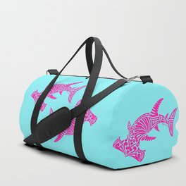 Nancy's Hot Pink Tribal Hammerhead Shark Duffle Bag