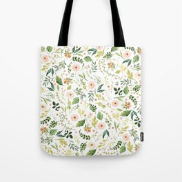 Botanical Spring Flowers Tote Bag