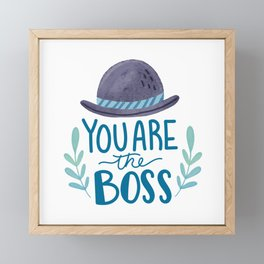 Boss Dad Framed Mini Art Print