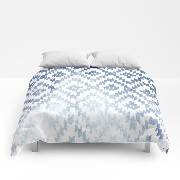 Indigo Ikat Print 3 Comforters