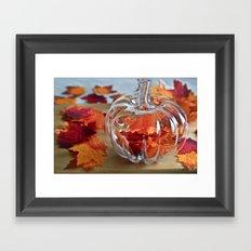 Pumpkin Vase Framed Art Print
