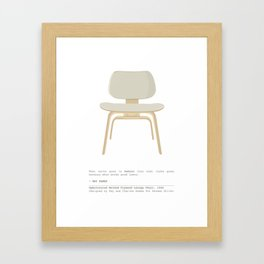 Eames Chair - Upholstered Molded Plywood Lounge Chair Framed Art Print