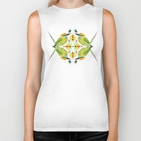 soul eater Biker Tanks featuring green bee eater  by Manoou