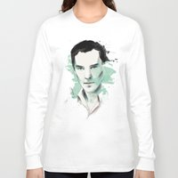benedict cumberbatch Long Sleeve T-shirts featuring Benedict Cumberbatch by charlotvanh