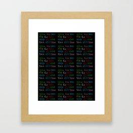 Funny Colors – Chromatic,light,Luz,cast,tone,nuance,tints Framed Art Print
